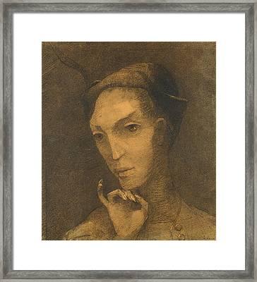 Mephistopheles Framed Print by Odilon Redon