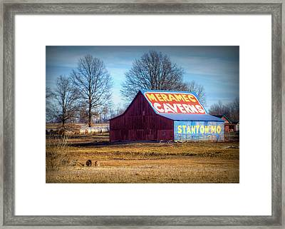 Meramec Caverns Barn Framed Print by Cricket Hackmann