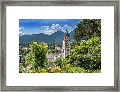 Merano Church Of St Nicholas Framed Print by Melanie Viola