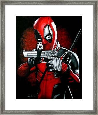 Merc With The Mouth Framed Print