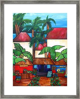 Mercado En Puerto Rico Framed Print