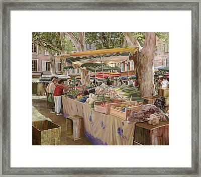 Mercato Provenzale Framed Print by Guido Borelli