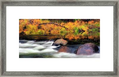 Merced River Autumn Framed Print by Floyd Hopper