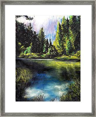 Merced River Bank Framed Print by Randy Sprout
