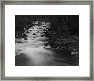 Merced River Falls Framed Print
