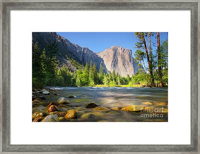 Merced River In Yosemite Valley Framed Print by Buck Forester