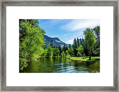 Merced River In Yosemite Valley Framed Print
