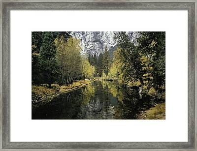 Merced River Reflection Framed Print