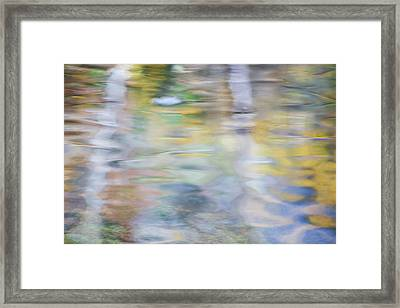 Merced River Reflections 6 Framed Print by Larry Marshall