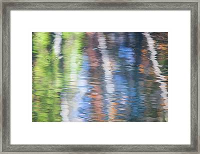 Merced River Reflections 8 Framed Print by Larry Marshall