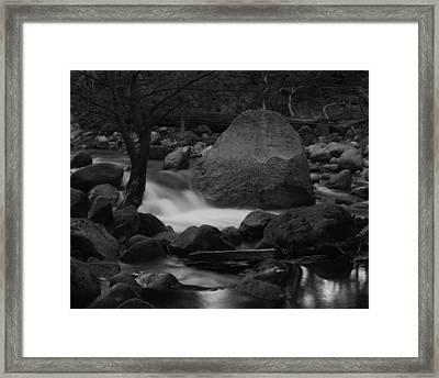 Merced River Rocks Framed Print