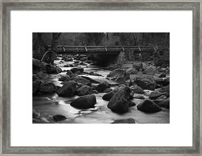 Merced River Wood Bridge Framed Print