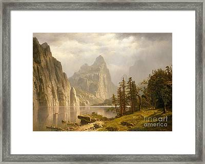 Merced River, Yosemite Valley, 1866 Framed Print by Albert Bierstadt