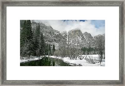 Merced Yosemite Falls Winter California Landscape Art Framed Print by Larry Darnell