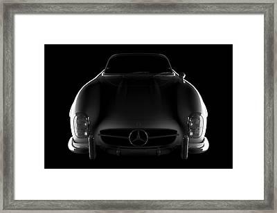 Mercedes 300 Sl Roadster - Front View Framed Print
