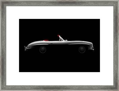 Mercedes 300 Sl Roadster - Side View Framed Print