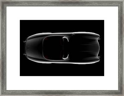 Mercedes 300 Sl Roadster - Top View Framed Print