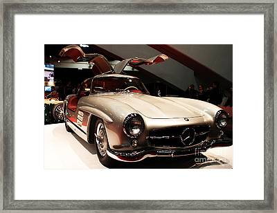 Mercedes 300sl Gullwing . Front Angle Framed Print by Wingsdomain Art and Photography
