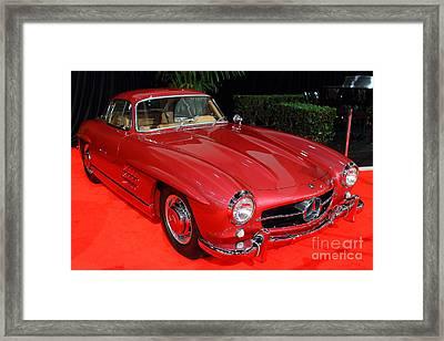 Mercedes 300sl . Red . 7d9172 Framed Print