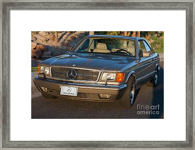 Framed Print featuring the photograph Mercedes 560sec W126 by Gunter Nezhoda