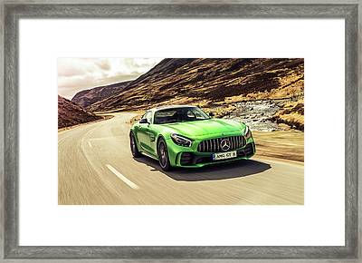 Mercedes A M G  G T  R Framed Print by Movie Poster Prints