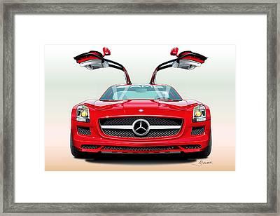 Mercedes Amg Sls Framed Print by Alain Jamar