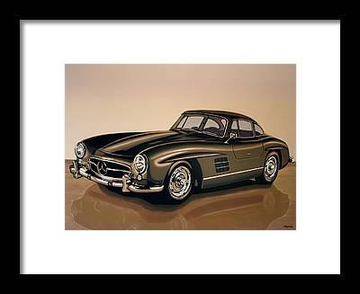 Mercedes-benz 300 Sl Framed Prints