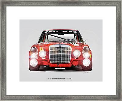 Mercedes-benz 300sel 6.3 Amg Framed Print