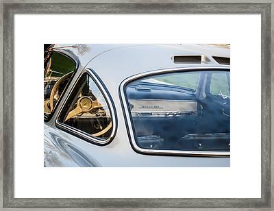 Mercedes-benz 300sl Steering Wheel -0142c Framed Print by Jill Reger