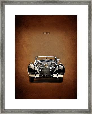 Mercedes Benz 540k Framed Print by Mark Rogan