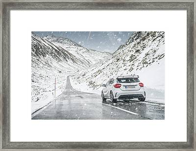 Mercedes Benz A45 Amg Snow Framed Print