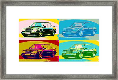 Mercedes Benz E 500 Pop Art Panels Framed Print