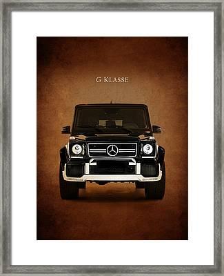 Mercedes Benz G Klasse Framed Print by Mark Rogan