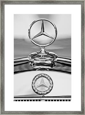 Mercedes Benz Hood Ornament 2 Framed Print