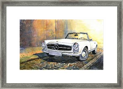 Mercedes Benz W113 280 Sl Pagoda Front Framed Print by Yuriy  Shevchuk