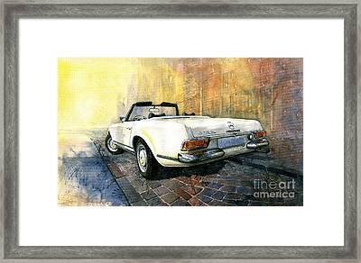 Mercedes Benz W113 280 Sl Pagoda Framed Print by Yuriy  Shevchuk
