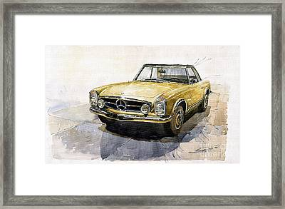 Mercedes Benz W113 Pagoda Framed Print by Yuriy  Shevchuk