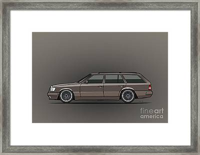 Mercedes Benz W124 E-class 300te Wagon - Anthracite Grey Framed Print by Monkey Crisis On Mars