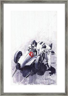 Mercedes Benz W125 Rudolf Caracciola The German Grand Prix Nurburgring 1937  Framed Print