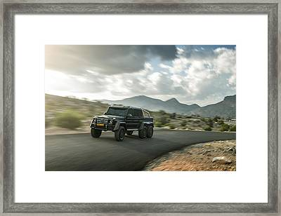 Mercedes G63 6x6 In Oman Framed Print