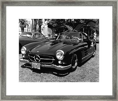 Mercedes Gull Wing Coupe Framed Print by Underwood Archives