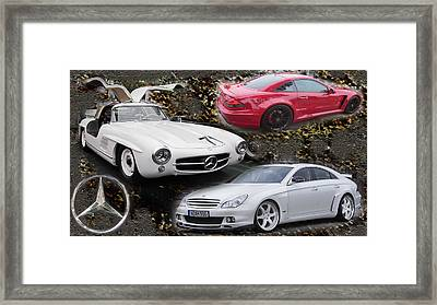 Mercedes Tribute Framed Print by Michael Burleigh