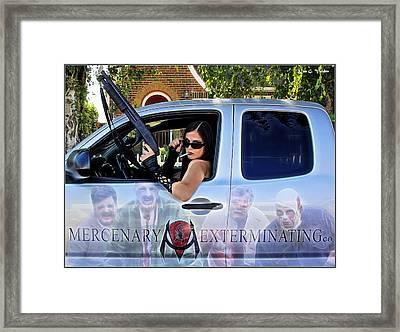 Pro Zombie Hunter Framed Print by Jon Volden