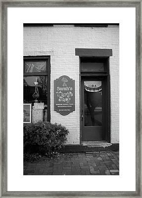 Mercer, Pa - Thrift Store 2008 Bw Framed Print
