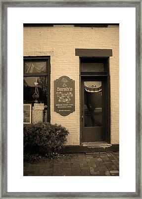 Mercer, Pa - Thrift Store 2008 Sepia Framed Print