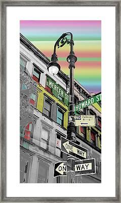Mercer St Framed Print