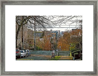 Mercer Street Framed Print by Tobeimean Peter