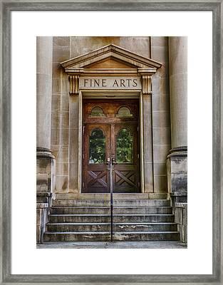 Mercer University - Fine Arts Door #1 Framed Print