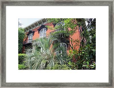 Mercer Williams House-savannah Ga Framed Print by Suzanne Gaff
