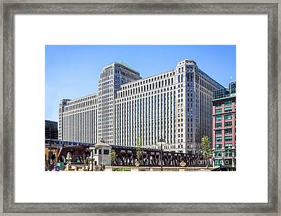 Merchandise Mart Overlooking The L Framed Print